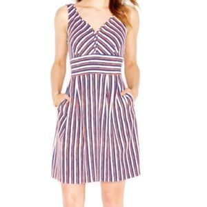 🍓Maison Jules🍓Red and Blue Striped Dress🍓